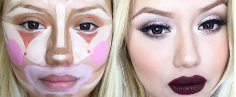 new-cosmetic-trend-clown-contouring-technique